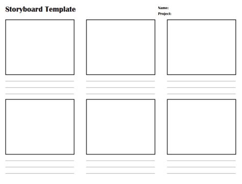 storyboard templates poster template