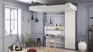 Chambre Gain De Place : lit gain de place lit escamotable et canap convertible pour petit espace c t maison ~ Farleysfitness.com Idées de Décoration