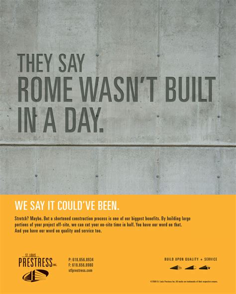 Set In Adds Creative Touch To Concrete In Construction Industry Advertising A Trade Journal Caign