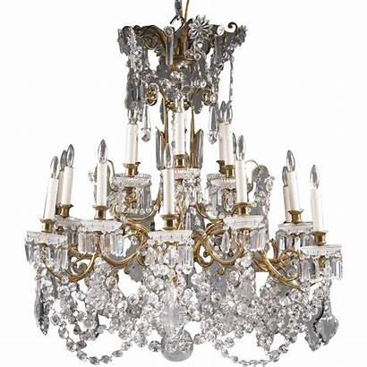 Baccarat Chandelier Crystal Tiered Mid 20th Signed