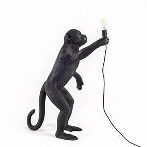 Seletti Monkey Lamp : the monkey lamp black standing version seletti ~ Buech-reservation.com Haus und Dekorationen