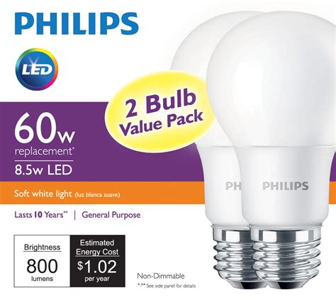 two philips led bulbs now at 5