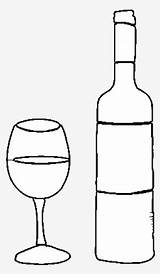 Bottle Glass Botella Dibujo Coloring Vino Liquor Wine Template Colorear Seekpng sketch template
