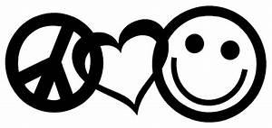 Love And Peace : peace love happiness vinyl decal sticker car window wall ~ A.2002-acura-tl-radio.info Haus und Dekorationen