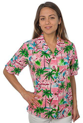 womens hawaiian shirts blouses benny 39 s aloha shirts 39 s flamingos hawaiian shirt