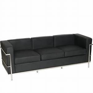 le corbusier 3 places mikaza meubles modernes montreal With tapis d entrée avec canapé le corbusier 3 places