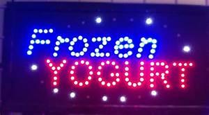 Frozen Yogurt Led Business Sign 19x10 Inches Qc