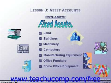 accounting tutorial fixed assets training lesson  youtube