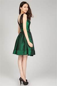 Emerald Green Lace Cocktail Dress   Dresscab