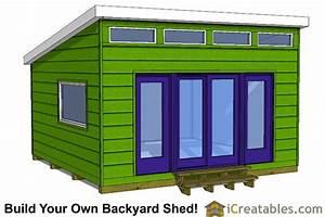 12x14 studio modern shed plans joy studio design gallery With 16x16 shed kit
