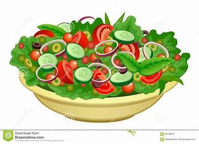 Salad Clipart Ensalada Luncheon Bowl Background Illustrations