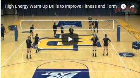 volleyball warm  drill high energy continuous butterfly