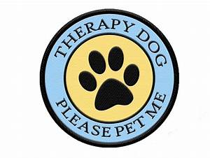 Therapy Dog Patch | Therapy Dog full Color Patch