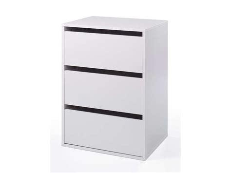 bloc 3 tiroirs verona coloris blanc vente de accessoires