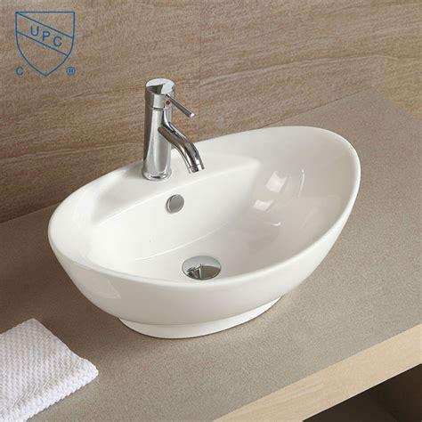 vessel sink countertops sale decoraport white oval ceramic above counter vessel sink