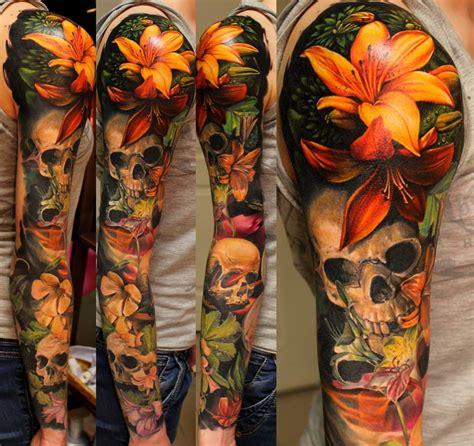 Realistic Nature Tattoo Sleeves Tattoodo