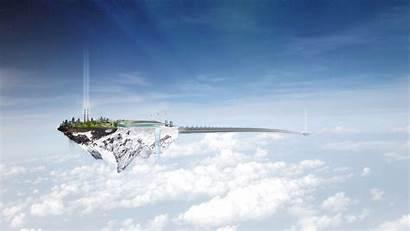 Island Floating Sky Wallpapers Under Isl Skies