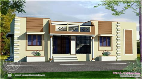 Single Floor House Front Design Indian Style Gurus Floor