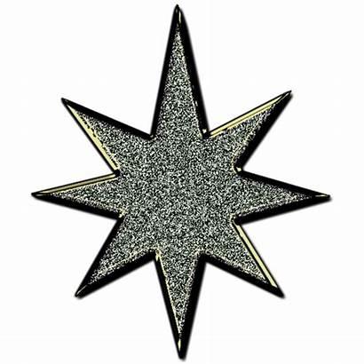 Glitter Star Clip Clipart Silver Cliparts Vector