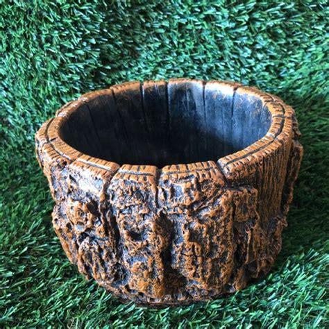 กระถางแคคตัส ลายเปลือกไม้ | Shopee Thailand