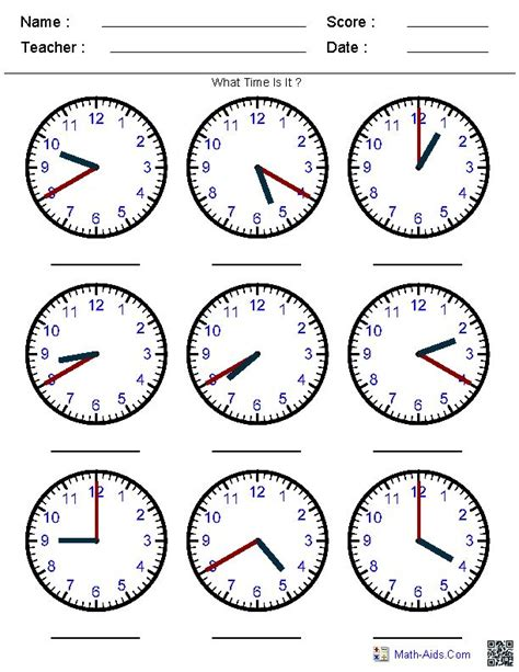 images  telling time printables  pinterest