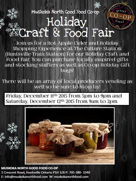 muskoka north good food co op holiday craft food fair