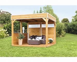 Pavillon Holz Flachdach : pavillon skan holz toulouse 302x302 cm kaufen bei ~ Orissabook.com Haus und Dekorationen