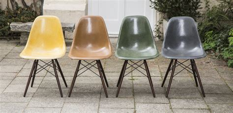 eames side chair dsw fiberglass set of 4 schlicht