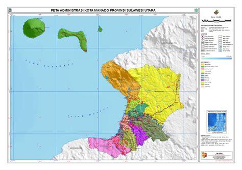 peta sulawesi peta kota manado
