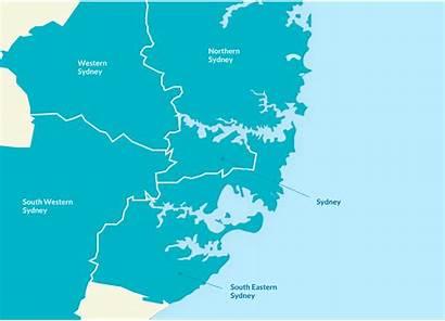 Sydney Nsw Metropolitan Regional Map Regions Locations