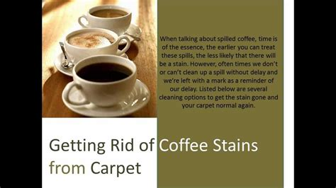 how to get coffee out of carpet diy removal of carpet stains coffee stains upholstery cleaning youtube