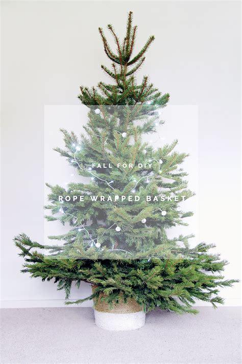 diy rope wrapped christmas tree basket fall  diy
