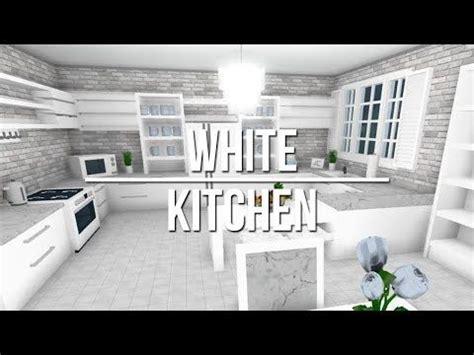roblox   bloxburg white kitchen youtube