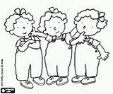 Annie Nellie Coloring Tessa Triplets Miscellaneous Characters Cartoon Pages Oncoloring sketch template