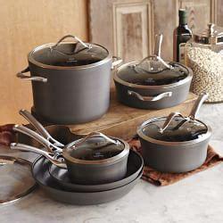calphalon elite nonstick  piece cookware set williams sonoma cookware set calphalon