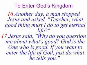 Feb 18-24-07 To Enter God'S Kingdom
