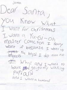 hmmm maybe someone should tell jenna quoti wantquot doesn39t With real letter to santa