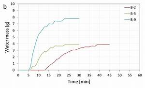 Current Density Vs Time Diagram  A  Left  And Water Mass Vs Time