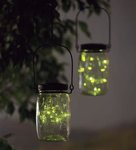solar firefly jar decorative outdoor light solar accents
