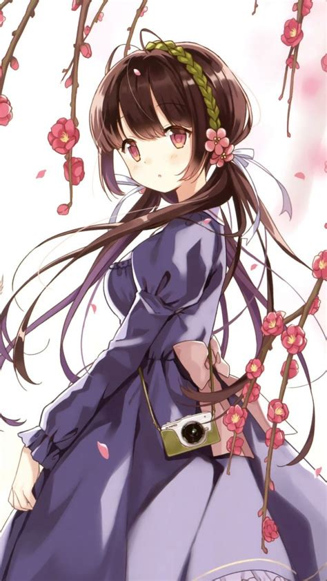 Anime Wallpaper 720x1280 - pink blossom outdoor anime 720x1280