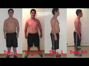 insanity workout results for men- before and after - YouTube