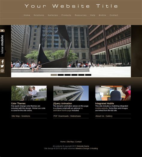 html web template  mobile photography business