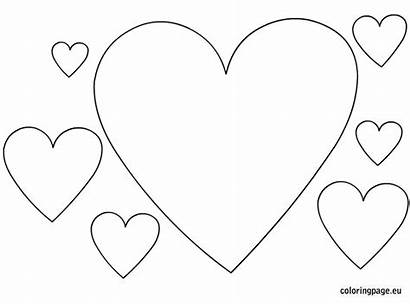 Heart Coloring Shape Shaped Valentine Hearts Shapes