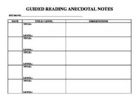 anecdotal notes guided reading forms for anecdotal notes by c tpt
