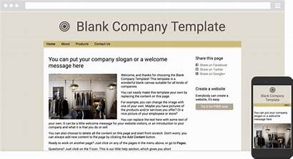 Simplesite Website Examples Themes Company Template