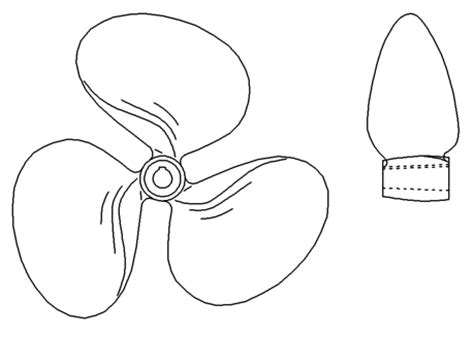 Boat Propeller Drawing boat propeller drawing sketch coloring page