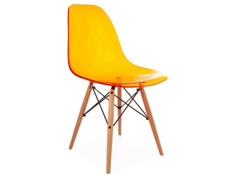 chaises orange chaise dsw transparent orange