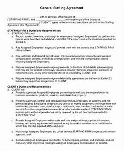 fantastic staffing contract template pictures inspiration With staffing contract template