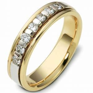 47243E 18kt Two Tone Diamond Wedding Ring