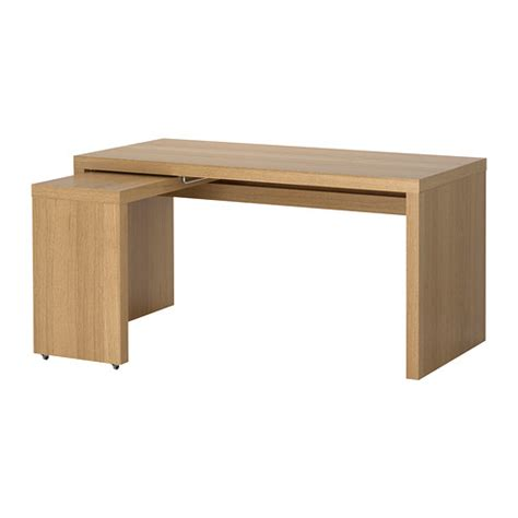 Ikea Malm Pull Out Desk White by Malm Desk With Pull Out Panel Oak Veneer Ikea